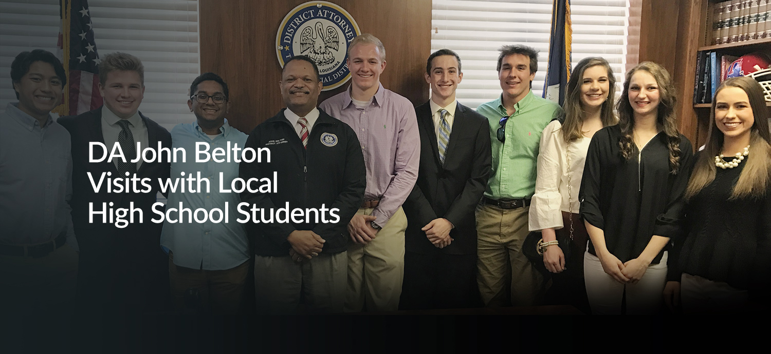 DA John Belton with Local High School Students